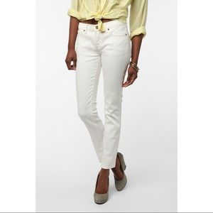 Urban Outfitters BDG 27 White Cigarette Jeans